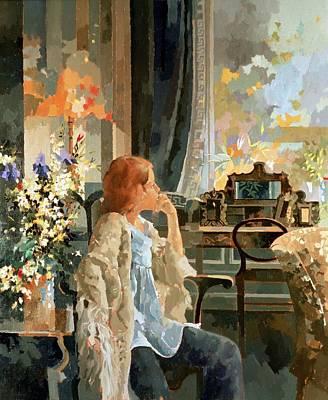 Interior Still Life Painting - Veil Of Elegance by Peter Miller