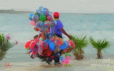 Balloon Vendor Painting - Vendedor De Globos En La Paz by Gerhardt Isringhaus