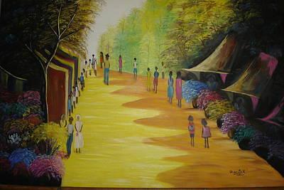 Painting - Vendedores De Flores Em Bosque  by Shanta Rathie