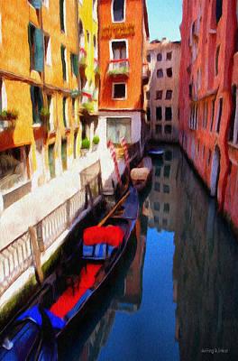 Venetian Canal Print by Jeff Kolker