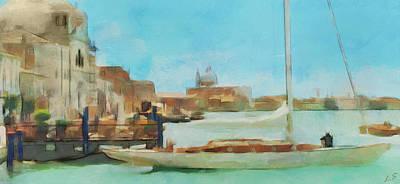 Painting - Venetian Canal by Sergey Lukashin