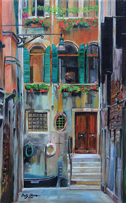 Boxes Painting - Venetian Colors by Emily Olson