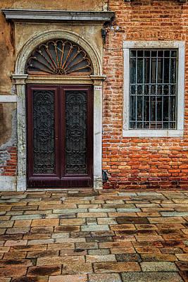 Vibrant Photograph - Venetian Door by Andrew Soundarajan