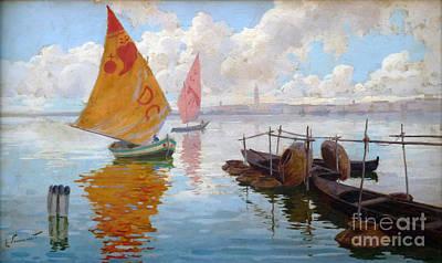 Ocean Painting - Venetian Marine by Celestial Images