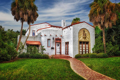 Florida House Photograph - Venetian Style 1926 Florida Home - 37 by Frank J Benz