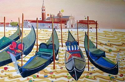 Georgio Painting - Venetian Twilight by Sherri Bails
