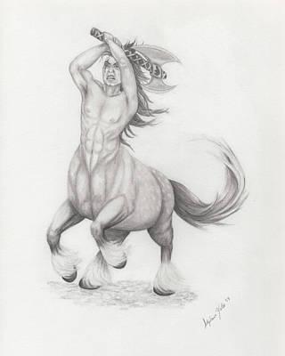 Vengeful Centaur Original by Stephanie Yates