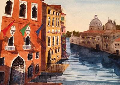Watercolor Painting - Venice by Arvind Guduri