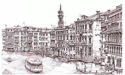 Venice Canals In Italia Print by Building  Art