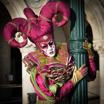Festivale Photograph - Venice Carnival Joker by Asgeir Pedersen