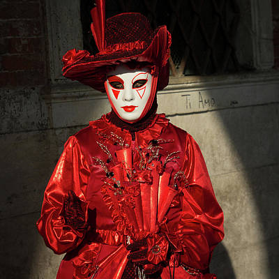 Festivale Photograph - Venice Carnival - Masks And Costumes by Asgeir Pedersen