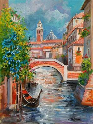 Life In Italy Painting - Venice Cityscape - Italy by Gioia Mannucci