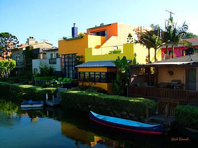 Canoe Mixed Media - Venice Colors by Nick Diemel