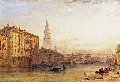 Venice Ca Painting - Venice From The Grand Canal by William Callow