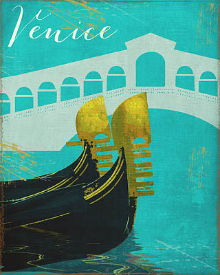 Venice Print by Mindy Sommers