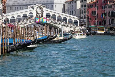 Rialto Bridge Photograph - Venice Rialto Bridge by Melanie Viola