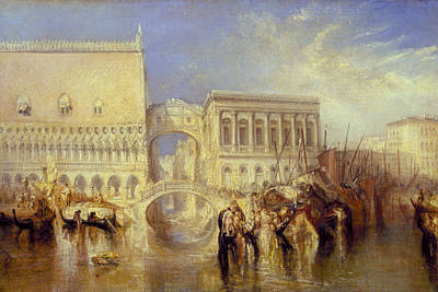 Italian Landscape Painting - Venice The Bridge Of Sighs by Joseph Mallord William Turner