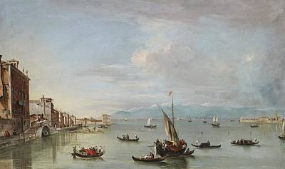Venice  The Fondamenta Nuove With The Lagoon And The Island Of San Michele Print by Francesco Guardi