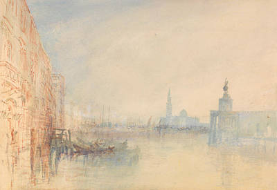 Italian Landscape Painting - Venice, The Mouth Of The Grand Canal by Joseph Mallord William Turner