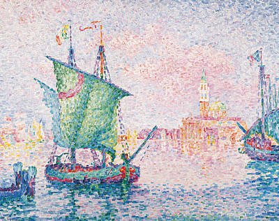 Pointillist Painting - Venice, The Pink Cloud by Paul Signac