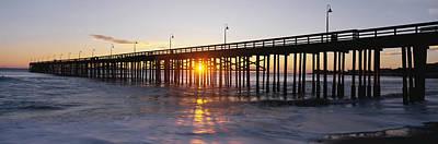 Ventura Photograph - Ventura Pier At Sunset by Panoramic Images