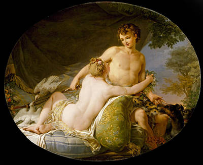 Painting - Venus And Adonis by Hugues Taraval