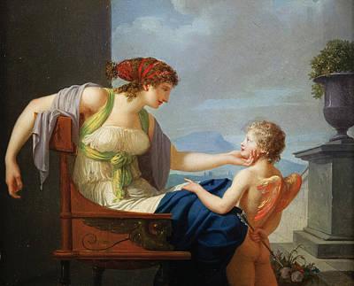 Painting - Venus And Cupid by Jean-Baptiste Regnault