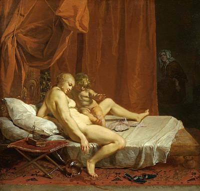 Nikolaus Knuepfer Painting - Venus And Cupid by Nikolaus Knuepfer