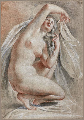 Drawing - Venus Arranging Herseld After The Bath by Thomas Lawrence