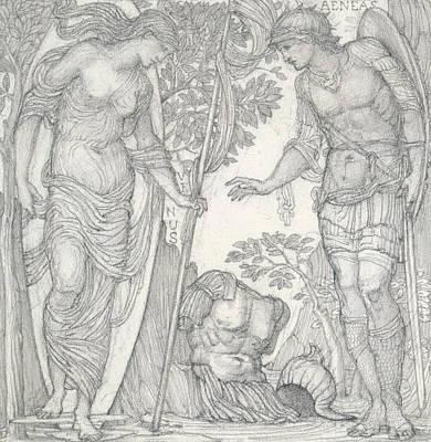 Warrior Goddess Drawing - Venus Bringing Armor To Aeneas by Sir Edward Coley Burne-Jones