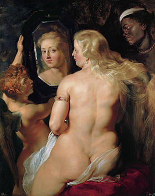 Aphrodite Painting - Venus In Front Of The Mirror by Peter Paul Rubens
