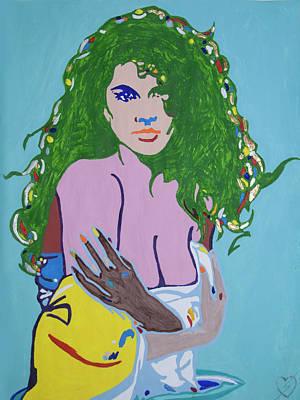 Yoruba Painting - Venus Oshun by Stormm Bradshaw