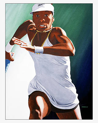 Venus Williams Drawing - Venus Williams by Brett Farr