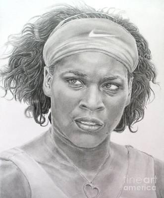 Venus Williams Drawing - Venus Williams by Blackwater Studio