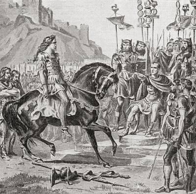 Vercingetorix The Gallic Leader Throws Print by Vintage Design Pics