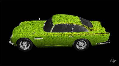 Sean Connery Mixed Media - Verde Aston Martin by Edier C