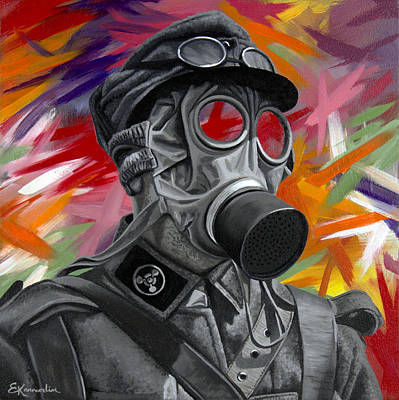 One Stroke Painting - Verdun by Elena Karavodin