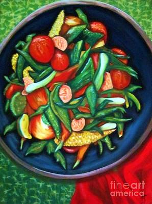 Green Beans Painting - Veriditas by Patsy Gunn