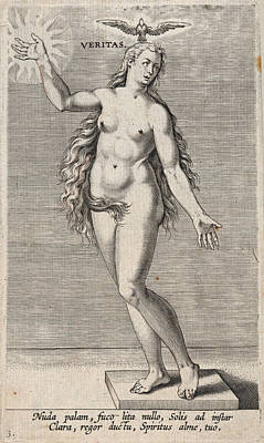 Drawing - Veritas From Proposopographia by Philip Galle