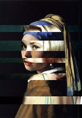 Grace Kelly Digital Art - Vermeer's Girl With A Pearl Earring And Grace Kelly by Luigi Tarini