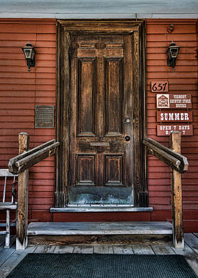 Vermont Country Store Photograph - Vermont Country Store Door by Stephen Stookey