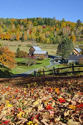 Aerosmith Photograph - Vermont Farm In Autumn by Donna Doherty
