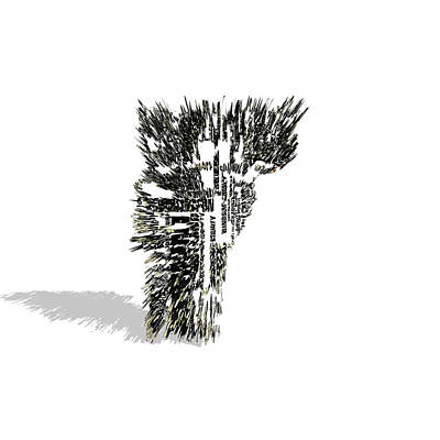 Mapping Mixed Media - Vermont Typographic Map 5a by Brian Reaves