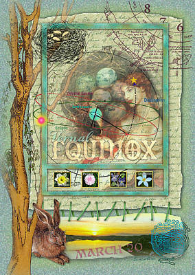 Egg Mixed Media - Vernal Equinox by Ernestine Grindal