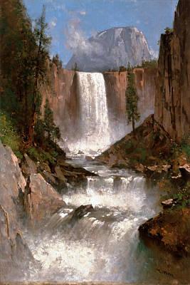 Thomas Hill Painting - Vernal Falls. Yosemite by Thomas Hill