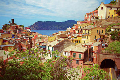 Europe Photograph - Vernazza Painterly by Joan Carroll