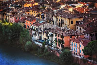 Verona City Of Romance Print by Carol Japp