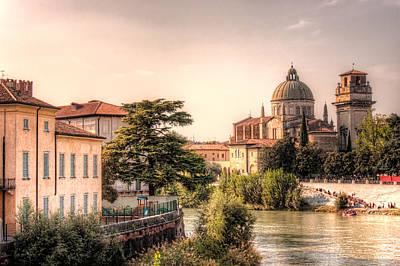 Verona Riverside - Italy Print by Nico Trinkhaus