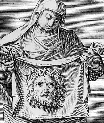 New Testament Drawing - Veronica's Cloth by Italian School
