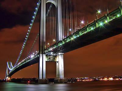 Staten Island Photograph - Verrazano Bridge by Evelina Kremsdorf